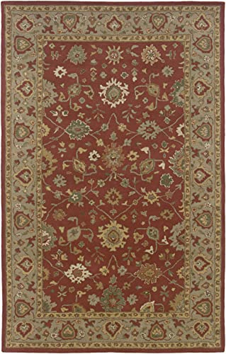 Rizzy Home JU0089 Jubilee 8-Feet by 8-Feet Square Area Rug, Terracotta