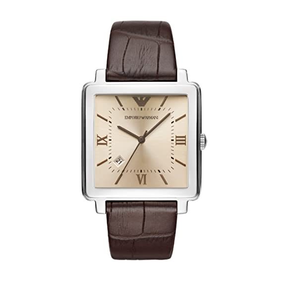 Emporio Armani Reloj Analogico para Hombre de Cuarzo con Correa en Cuero AR11098: Amazon.es: Relojes