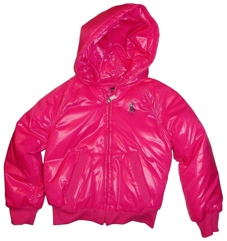 a74268880 Amazon.com  RALPH LAUREN Girl s Polo Hooded Down Puffer Jacket Pink ...