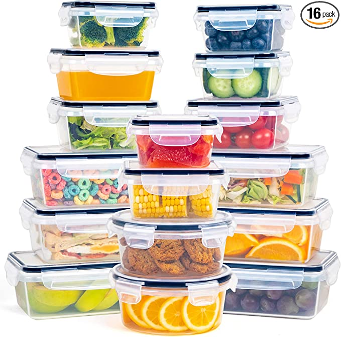 Details about  /Airtight Kitchen Food Storage Containers Box Square Plastic With Lids Stackable