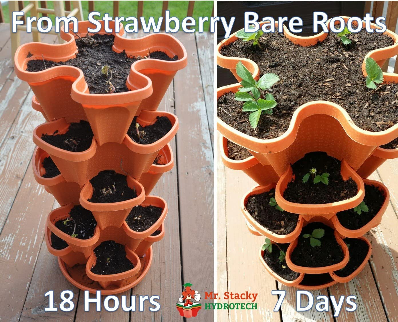 and Vegetable Planter 5 Tier Stackable Strawberry Vertical Garden Indoor//Outdoor Flower Herb
