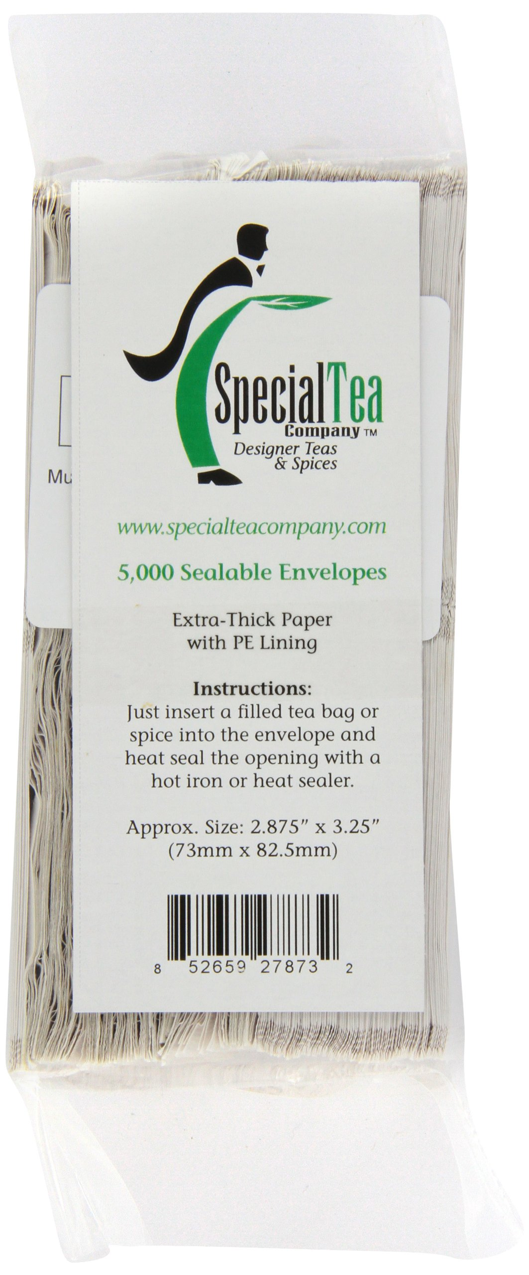 Special Tea Company 5000 Count Blank Tea Bag Outer Envelopes, 2.85 by 3.25-Inch by Special Tea Company (Image #1)