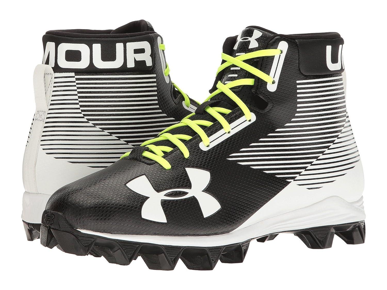 (アンダーアーマー) UNDER ARMOUR メンズフットボールアメフトシューズ靴 UA Hammer RM Black/White 6.5 (24.5cm) D - Medium B07CBMBSMJ