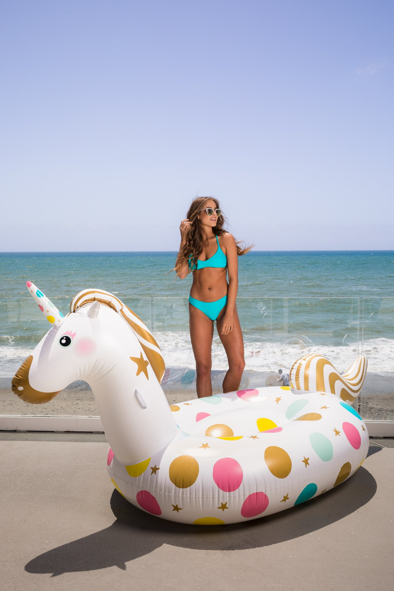 Unicorn Pool Float - Giant 107 x 44 x 55 Inches Inflatable Giant Unicorn Float Swimming Pool River Raft Float Unicorn… 5