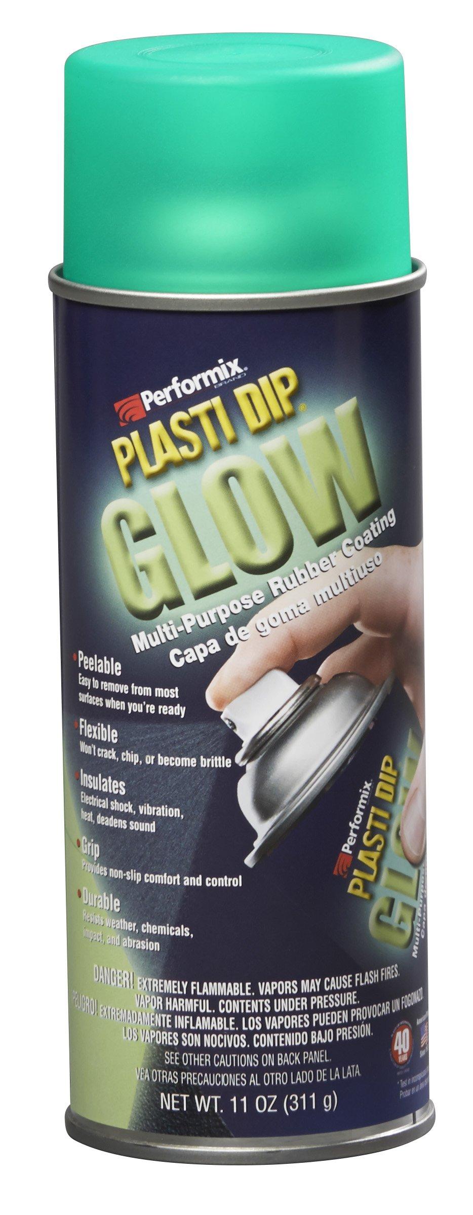 Plasti Dip Performix 11257-6-6PK Green Glow Spray - 11 oz, (Pack of 6)