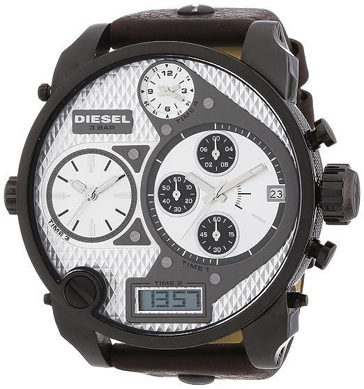 Diesel DZ7126 - Reloj analógico y Digital de Cuarzo para Hombre con Correa de Piel, Color marrón: Diesel: Amazon.es: Relojes