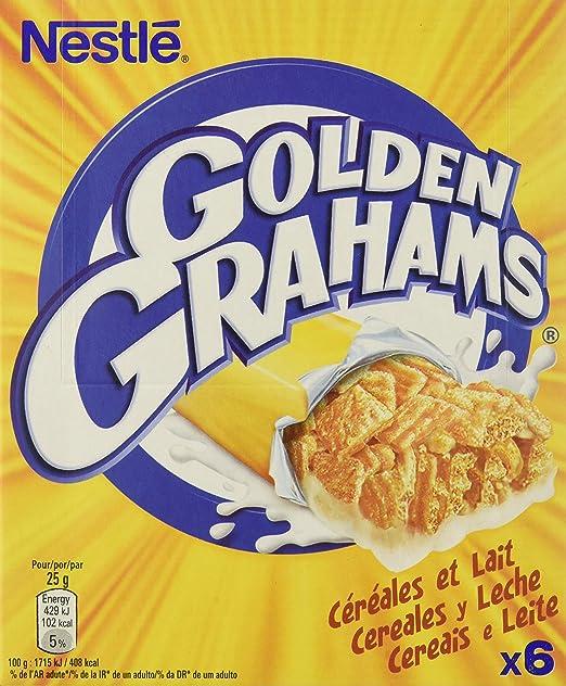 Nestlé 1664608_16 Golden Grahams Barritas de cereales tostados con leche, 25 gr, Paquete de