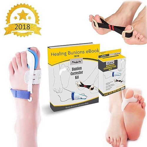Penkwin® | 5 PIECE Complete Bunion Corrector Kit | Pain Relief & Correction | + FULL EBOOK GUIDE | Hallux Valgus & Bunion Pads, Splints, Straightener & Protector