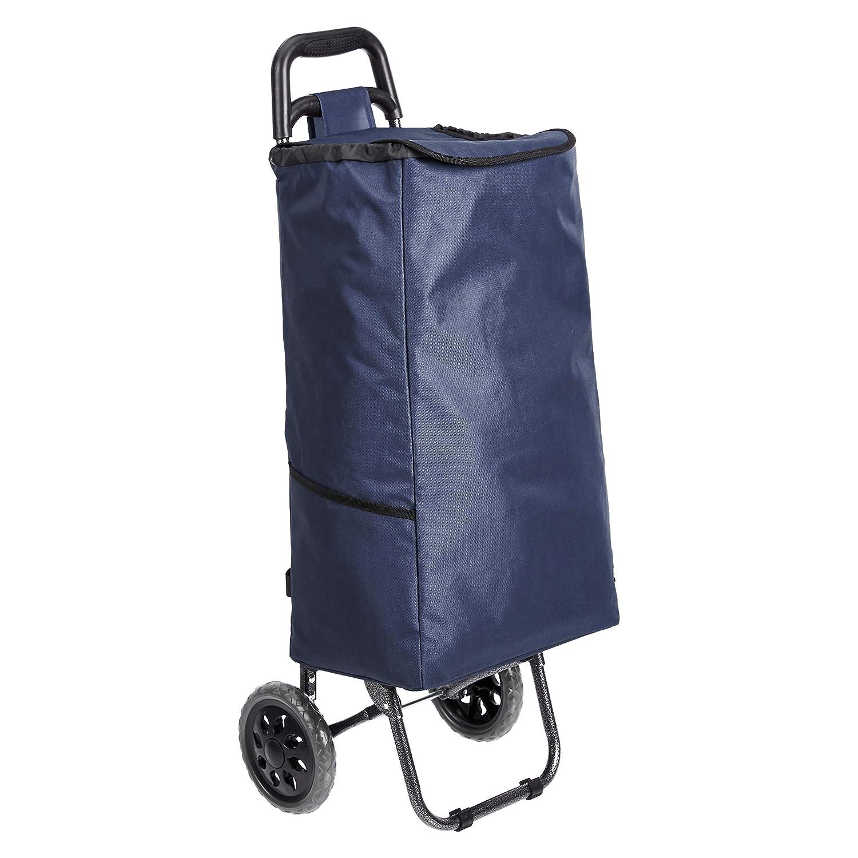 Carrito de la compra con 2 ruedas Basics 40 litros color rojo