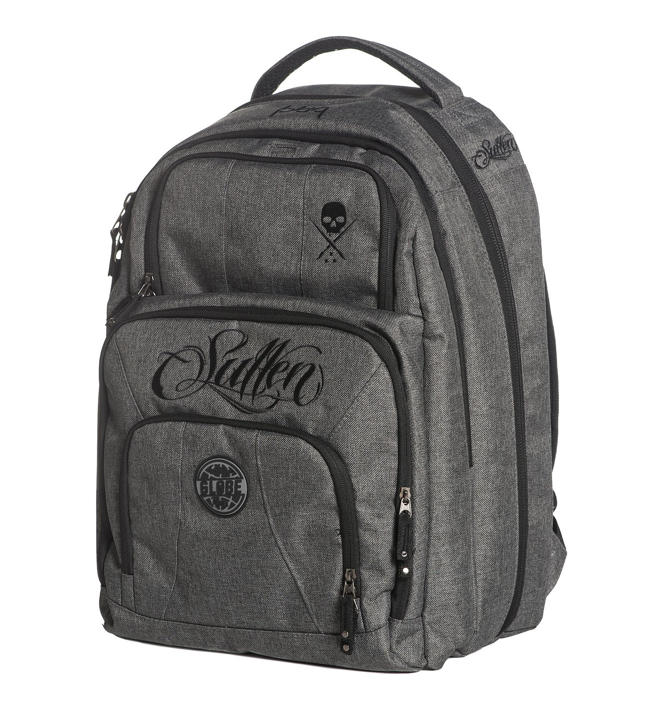 Sullen Blaq Paq Onyx Tattoo Travel Bag Gray Globe Edition by Sullen Clothing