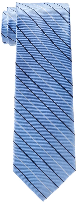 Tommy Hilfiger - Corbata de rayas finas para hombre - Azul - talla ...