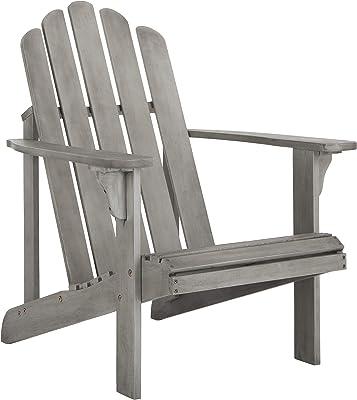 Amazon Com Lifetime Faux Wood Adirondack Chair Gray