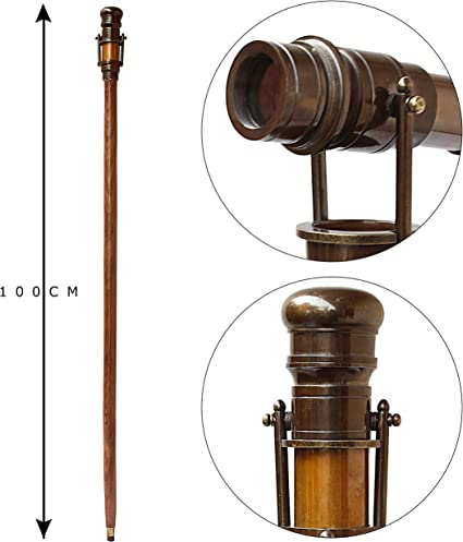 Vintage Steampunk Handheld Brass Telescope for Travelers Nautical Collector/'s