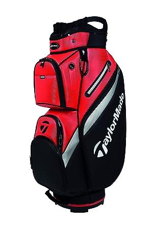 TaylorMade Deluxe Cart Bag - Bolso para Hombre (Talla única), Color Negro