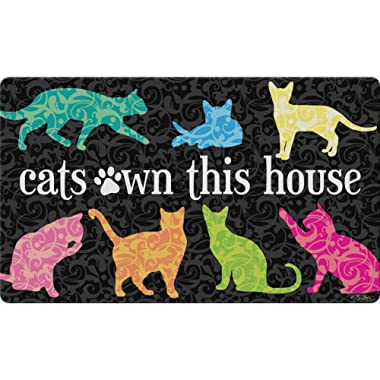 Toland Home Garden 800428 It's The Cat's House Doormat, 18  x 30  Multicolor