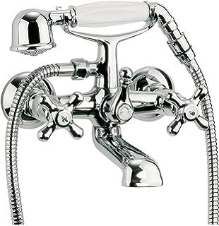 sanitop wingenroth 76802 3 miscelatore per vasca a 2 manopole con manopola doccia
