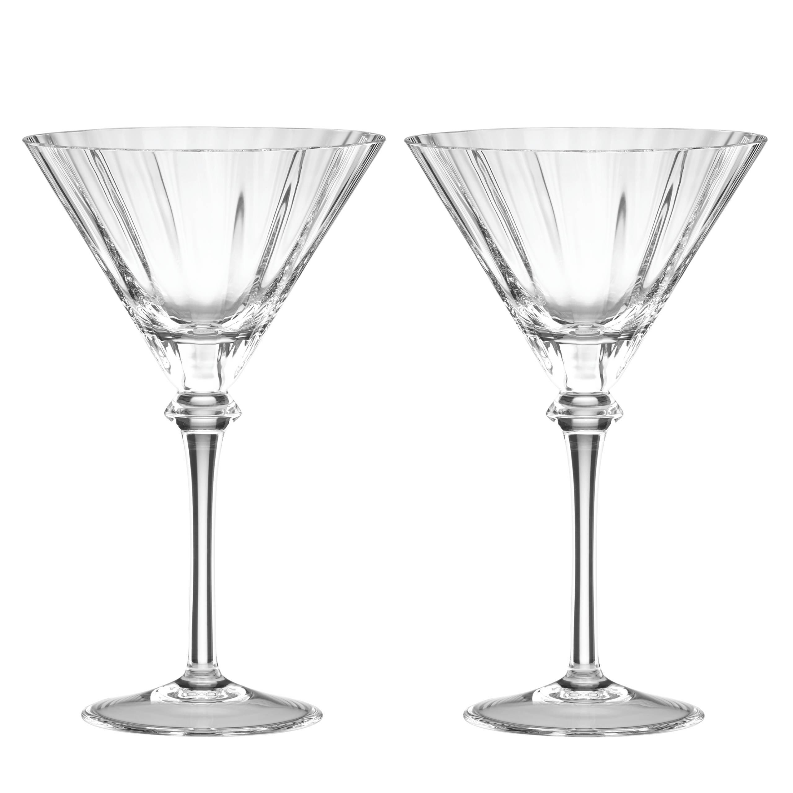Reed & Barton 2 Piece Heritage Austin Crystal Martini Glass Set