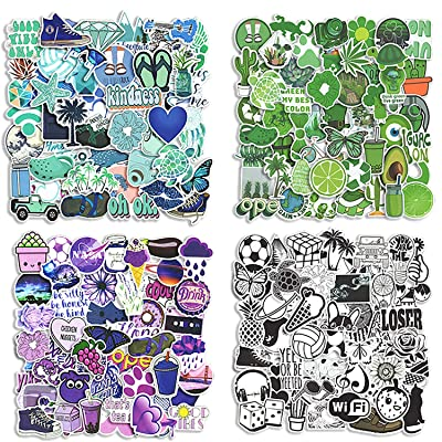 200pcs VSCO Stickers for Water Bottles Aesthetic, Random Stickers for Kids, Girls, Teens,Teachers, Stickers Variety Pack 4 Colors Cool Stickers Random, Laptop Stickers, Skateboard Stickers: Arts, Crafts & Sewing