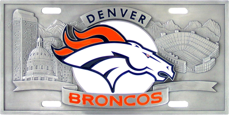 12 Orange Siskiyou NFL Denver Broncos Collectors License Plate