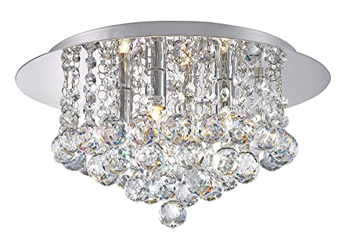 Alfred led modern acrylic crystal chandelier 3 lights chrome modern elegant round chandelier ceiling light crystal droplets simply stunning effect aloadofball Choice Image