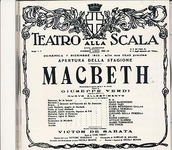 Verdi: Macbeth(recorded in Milano 7-12-1952)