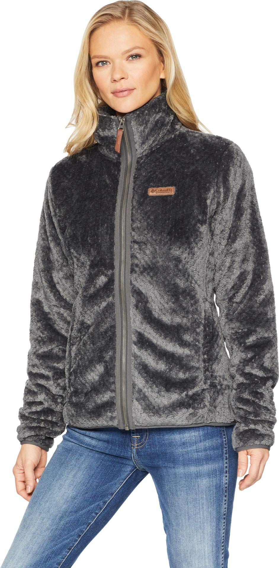 Columbia Women's Fire Side II Sherpa Full Zip, Shark, X-Large by Columbia