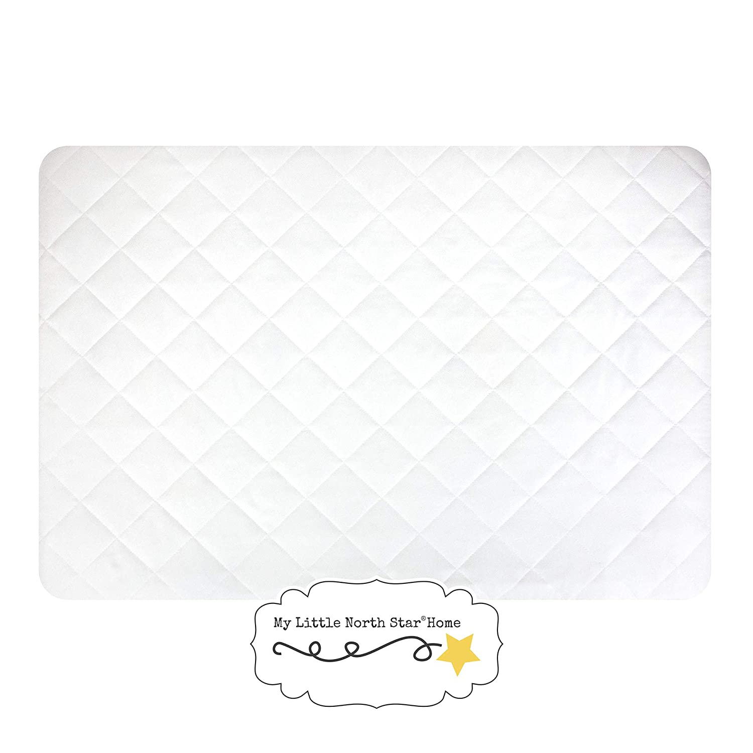 Pack N Play Crib Fitted Mattress Cover - Waterproof, Dryer Safe, Quilted and Soft, Hypoallergenic Mattress Protector - Fits Baby Mini Crib Portable Crib and Play Yard mattresses