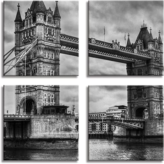 JP London 4 Panels 14in 4 Huge Gallery Wrap Canvas Wall Art Work Hard Dream Big Inspirational Quote At Overall 28in QDCNV2430 DMCNV2049
