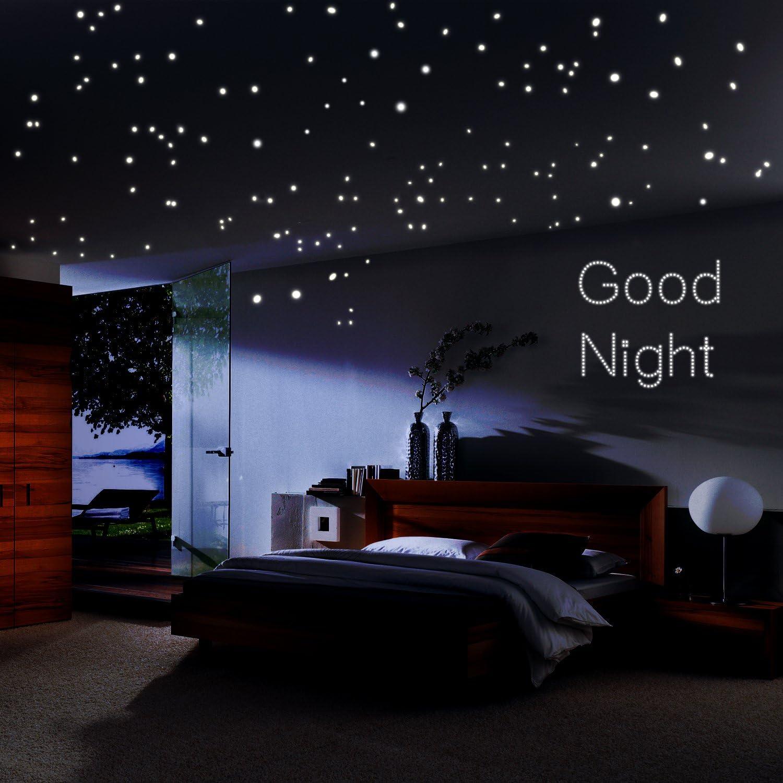 Amazon Com Airbin Glow In The Dark Stars Sticker Glowing Reusable
