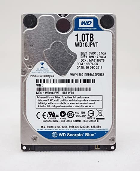 Amazon.com: Western Digital Disco duro 1TB 2.5