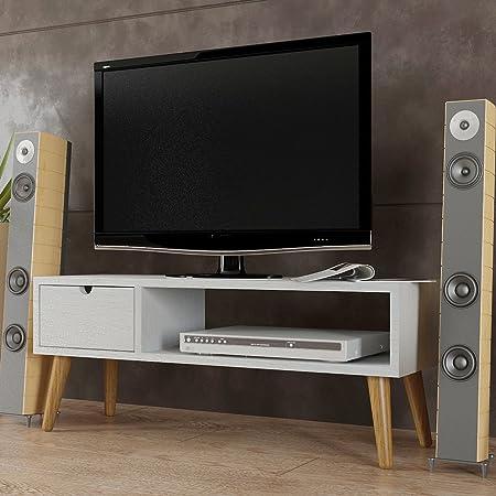 Hogar24.es-Mesa televisión, mueble tv salón diseño vintage, cajón ...