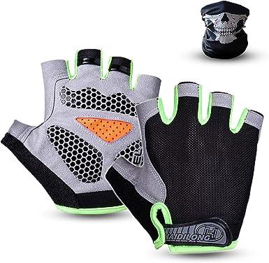 UK Bicycle Cycling Gloves Half Finger MTB Gel Padded Fingerless Women Men Unisex