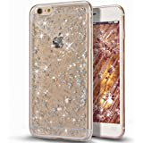 Custodia iPhone 5S, Custodia iPhone SE,Custodia iPhone 5, Case Cover per iPhone 5S 5 / SE, ikasus® Shiny Sparkly Bling Bling Glitter iPhone 5S 5 / SE Custodia Cover [Crystal TPU] [Shock-Absorption] Protettiva Trasparente Ultra Sottile Silicone Gel Cover Custodia chic Crystal Clear Case Super Sottile Bumper Case Custodia Cover per Apple iPhone SE 2016 & iPhone 5S 5 - Argento Scintillio Bling