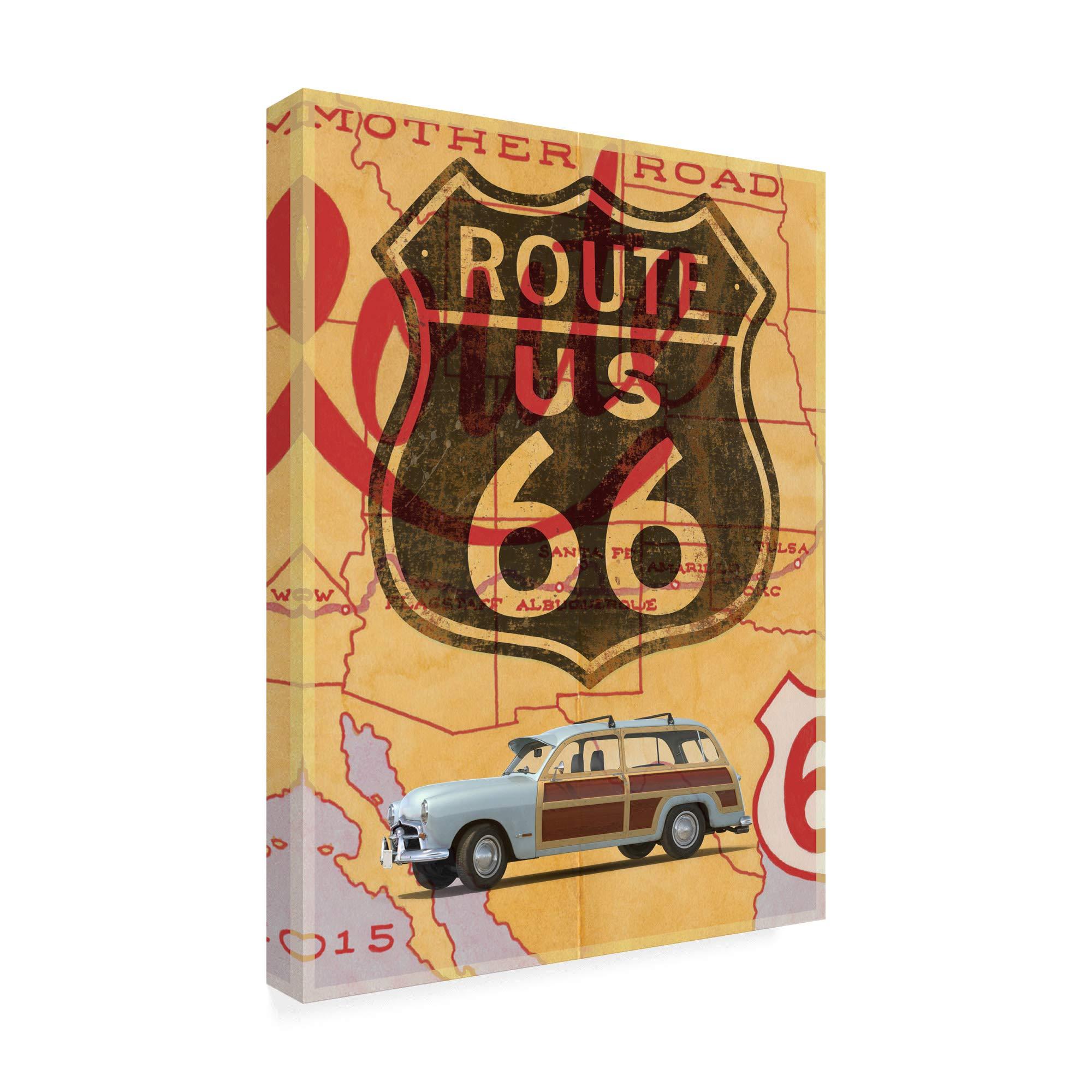 Trademark Fine Art Route 66 Vintage Postcard by Edward M. Fieldin, 35x47 by Trademark Fine Art (Image #2)