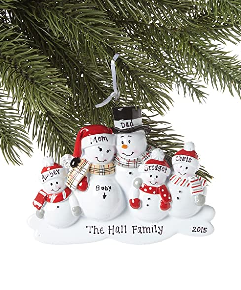 Amazoncom Family of 5 Were Expecting Snowmen Personalized