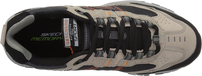 Skechers Sport Men's Vigor 2.0 Trait Memory Foam Sneaker, Taupe/Black, 10 M US Taupe Noir