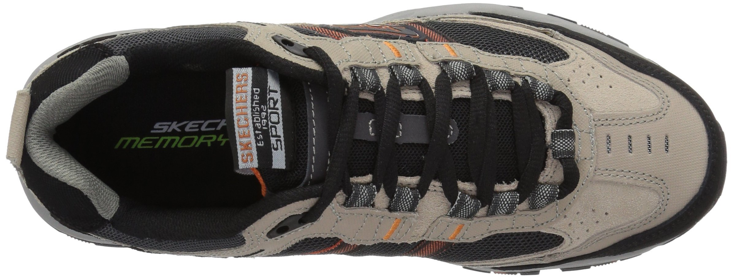 Skechers Sport Men's Vigor 2.0 Trait Memory Foam Sneaker, Taupe/Black, 7 M US by Skechers (Image #8)