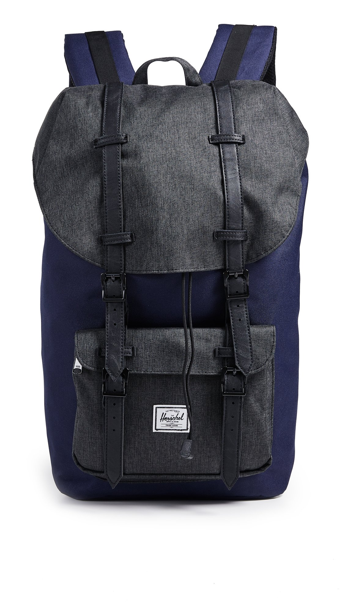 Herschel Supply Co. Little America Backpack, Peacoat/Black Crosshatch, One Size