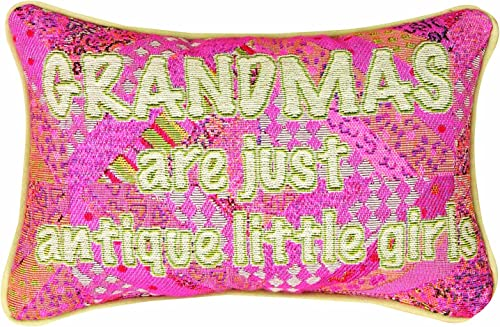 Manual Woodworkers Weavers Grandma s are Antique Pillow with Corded Edges, 12-1 2 by 8-1 2-Inch