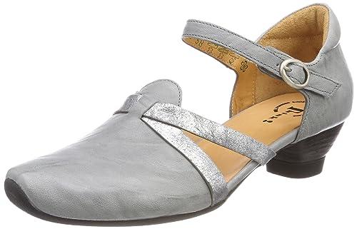 Aida_282242, Zapatos con Tacon y Correa de Tobillo para Mujer, Blanco (Ivory/Kombi 93), 41 EU Think