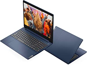 "2020 Lenovo IdeaPad 3 15.6"" Laptop Intel Core i3-1005G1 8GB RAM 256GB SSD Windows 10 in S Mode Blue, 4-10.99 inches"