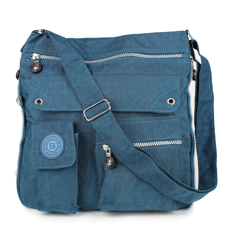 2221 Bag Street Damen sportliche Handtasche Umhängetasche Schultertasche aus Nylon D1OTJ206N