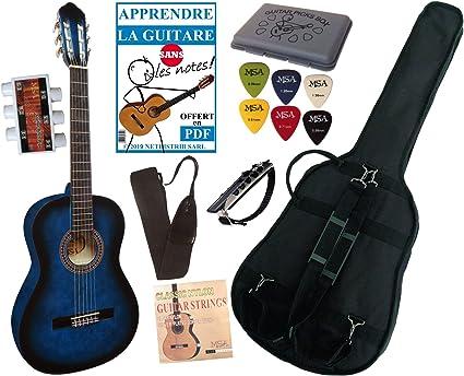Guitarra Española 4/4 con juego de accesorios (6 accesorios ...