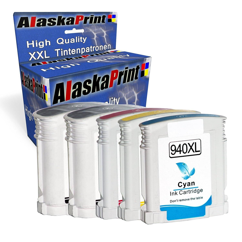 5x Cartuchos de tinta Compatible para HP 940 XL con HP Officejet ...