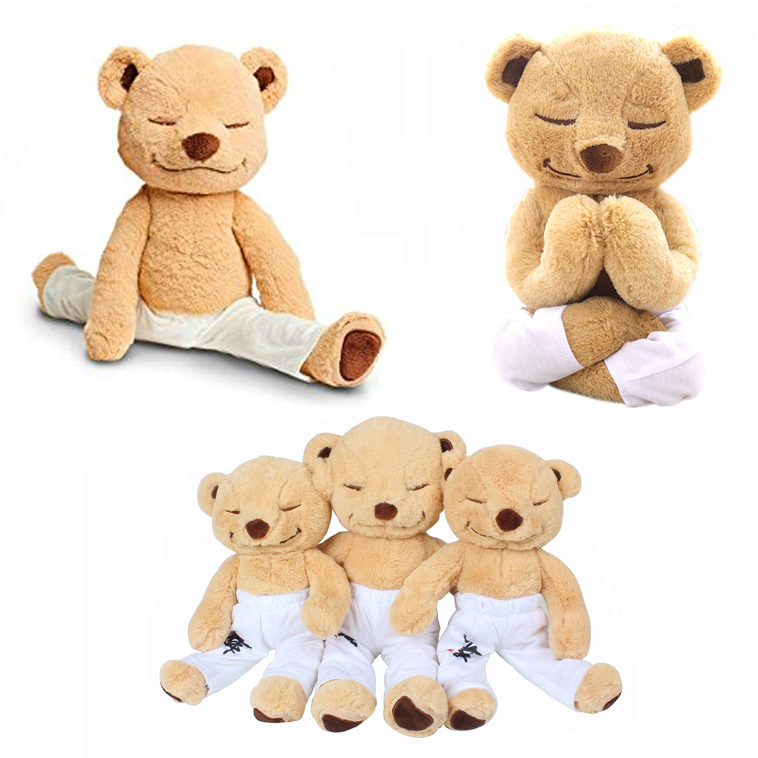 JZH Flexible Remodelable Pose Yoga Bear Cute Bear Soft Plush Toys. (M)