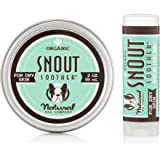 Natural Dog Company Snout Soother Travel Stick Heals Dry, Chapped, Cracked, and Crusty Dog Noses, 2 Oz Tin with 0.15 Oz  Travel Stick