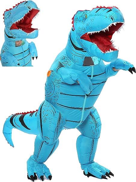 Amazon.com: Disfraz de dinosaurio inflable, talla única ...