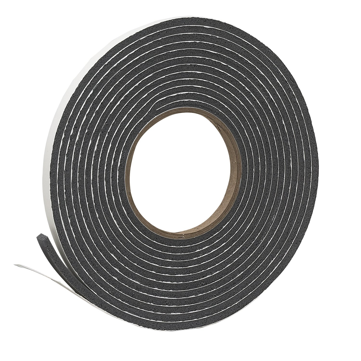 "Frost King V212GH Vinyl Foam Self-Stick Tape, Moderate Compression, 3/8"" Wide x 3/16"" Tall x 17 ft. Long, Charcoal"