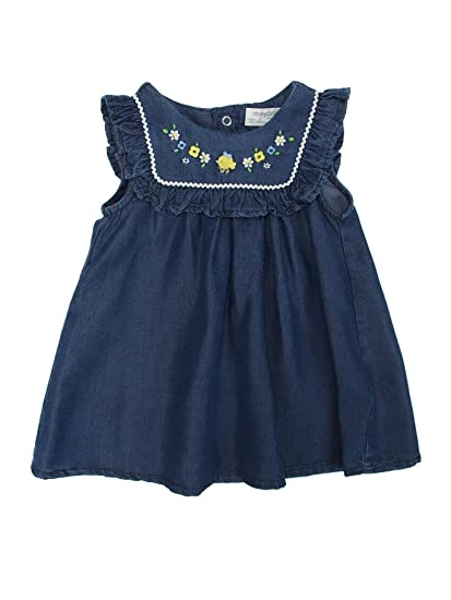 fbe0e3be9b4e Mayoral 28-01860-004 - Denim Dress for Baby-Girls 12 Months Jeans   Amazon.co.uk  Clothing