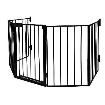 Kaminschutzgitter Baby Absperrgitter Türschutzgitter Ofenschutzgitter mit Tür